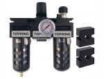 Filter + regulator + lubricator 1/4 medium manual polyurethane modulair
