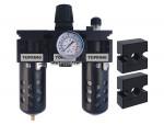 Filter + regulator + lubricator 1/2 maxi auto polyurethane