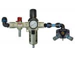 Filter/regulator unit + manifold 20 mm quiksilver (2) 20.686 pps