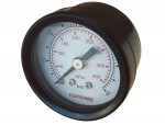 "Gauge 1-1/2"" - 1/8npt cbm 0-60 glass lens"