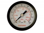 "Gauge 1-1/2"" - 1/8npt cbm 0-160 glass lens"