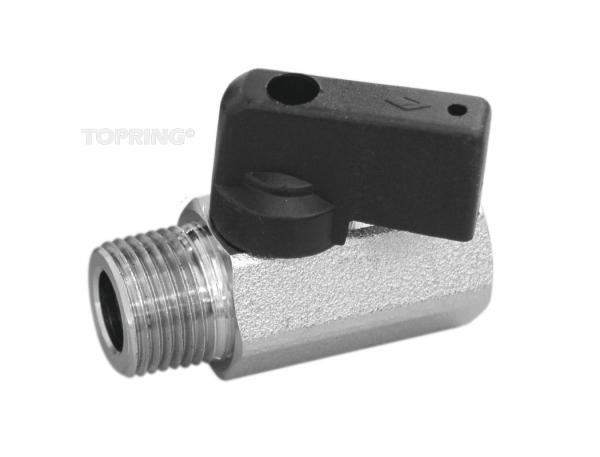 Brass mini ball valve 1/4(f-m)npt 10/cse