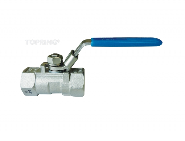 Ball valve stainless steel reduced flow 1/4 - 2 npt lockout 1-1/2(f-f)npt red. port
