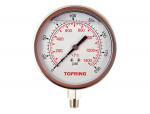 "Liquid gauge 2-1/2"" – 1/4 npt lm 0-200 stainless steel"