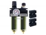 Filter/regulator+lubricator 1/2 maxi manual zinc+transp