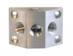 Aluminium manifold (2) 1/2 (f) npt x (3) 1/4 (f) npt