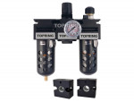Filter + regulator + lubricator 1/4 medium manual polyurethane + adapt.