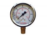 """Liquid gauge 2-1/2"""" – 1/4 npt lm 0-60 stainless steel/brass"""
