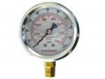 """Liquid gauge 2-1/2"""" – 1/4 npt lm 0-100 stainless steel/brass"""