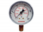 "Liquid gauge 2-1/2"" – 1/4 npt lm 0-5000 stainless steel/brass"