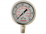 "Liquid gauge 2-1/2"" – 1/4 npt lm 0-3000 stainless steel"