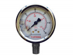 "Liquid gauge 2-1/2"" – 1/4 npt lm 0-60 stainless steel"