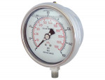 "Liquid gauge 4"" – 1/4 npt lm 0-160 stainless steel"