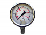 "Liquid gauge 2-1/2"" – 1/4 npt lm 0-1500 stainless steel"