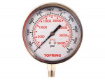 "Liquid gauge 2-1/2"" – 1/4 npt lm 0-5000 stainless steel"