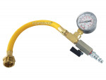 Water blowout adapter kit with male connector and 0-60 psi pressuer gauge