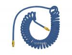 Self-storing polyurethane hose 1/4 x 15' x 1/4 (m) npt flexcoil blue