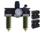 Filter + regulator + lubricator 1/2 maxi manual zinc+transp