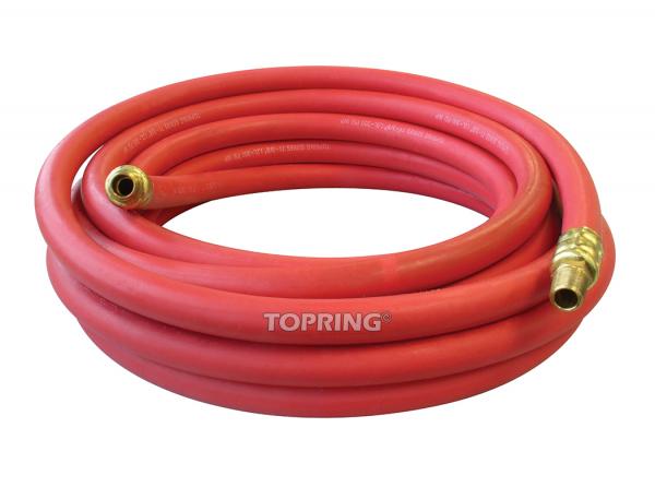 Hose rubber 1/4 x 35' x 1/4 (m) npt airflex premium