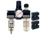 Filter + regulator + lubricator 1/4 mini auto polyurethane modulair