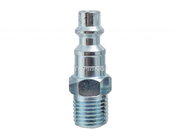 Plug (1/4 industrial) 1/4 (m) npt 2pcs/c