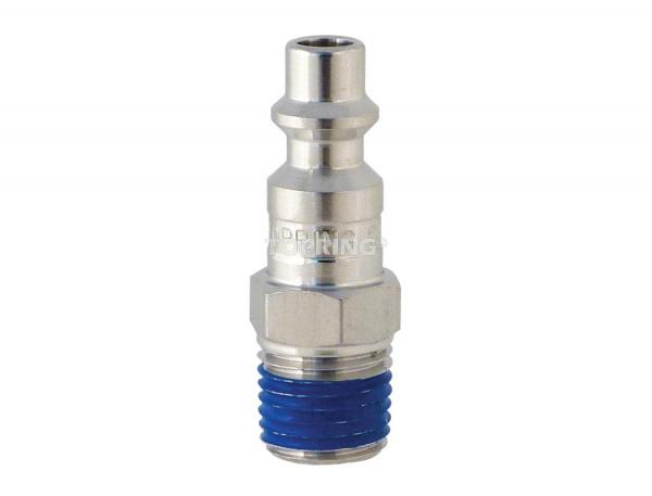 Plug (1/4 industrial) 1/4 (m) npt stainless steel