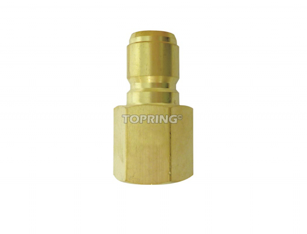 Plug hydraulic (straight through) 3/4 (f) npt brass