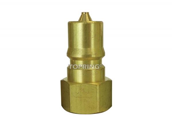 """Plug hydraulic (iso """"b"""") 3/4 (f) npt brass"""