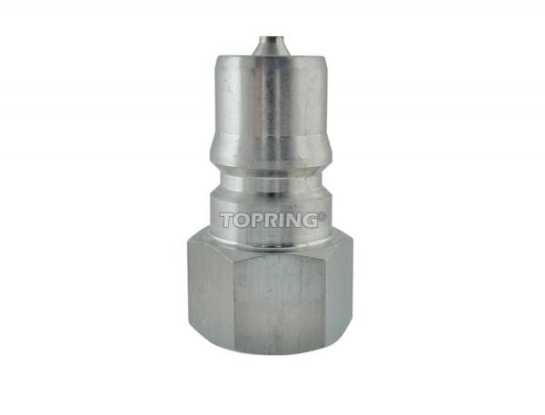 "Plug hydraulic (iso ""b"") 3/4 (f) npt stainless steel"