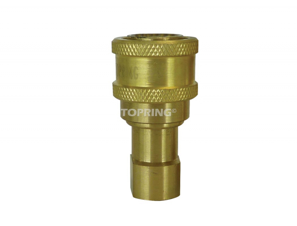 "Coupler hydraulic (manual) (iso ""b"") 3/8 (f) npt brass"