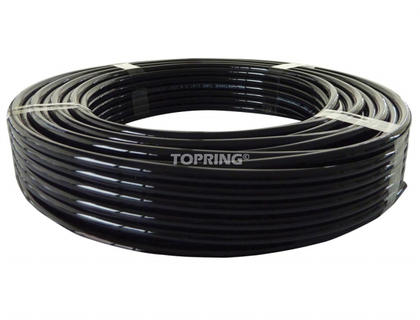 Tubing nylon.pu longlife 5/32 (4 mm) x 100' (30m) black