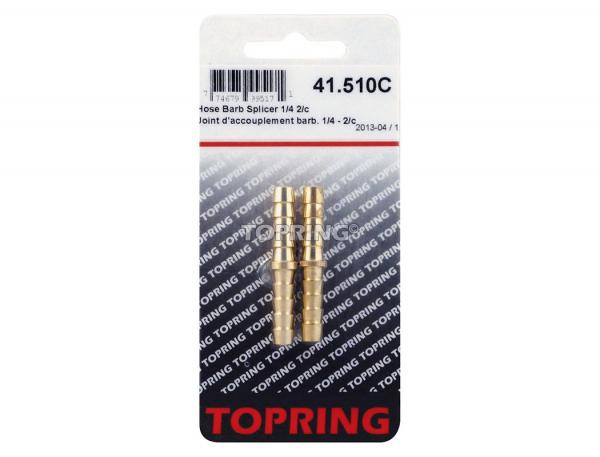 Joint d'accouplement barbillon 1/4 2pcs/c