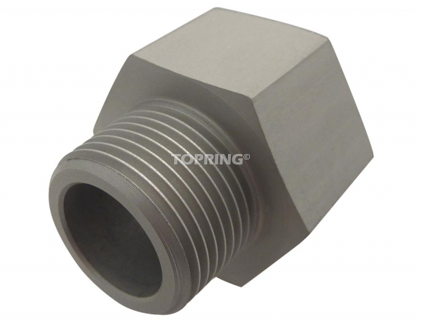 Adapter npt-bspp aluminium 1-1/4 (m) bspt x 1-1/4 (f) npt