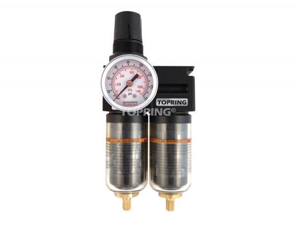 Filter/regulator+filter coalescing 1/4 mini auto zinc+transp