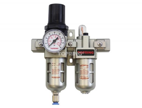 Filtre/régulateur+lubrificateur (manomètre inclus) 1/4 semi auto 200 airflo