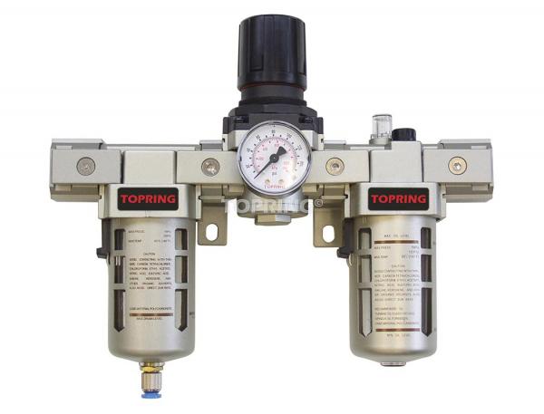 Filtre + régulateur + lubrificateur (manomètre inclus) 3/8 airflo 400 semi auto