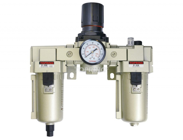 Filtre + régulateur + lubrificateur semi automatique 3/4 airflo 450