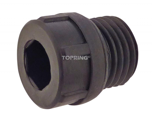 Oil fill plug for 400-450-500 lubricator