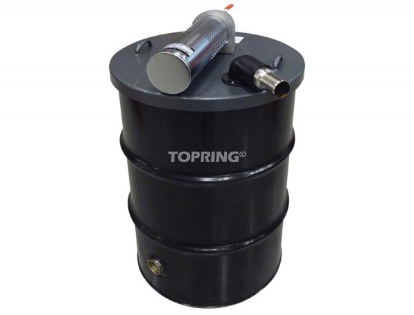 Aspirateurpowervac 55 gallons avec baril et accessoires