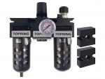 Filter + regulator + lubricator 1/4 medium auto polyurethane modulair
