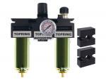 Filter + regulator + lubricator 1/2 medium manual zinc+transp