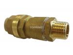 Male threaded connector 15 mm x 1/2 (m) npt metal quickline