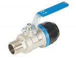 Male ball valve 1/2 (m) npt x 16 mm pps