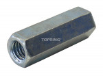 Hexagonal coupling nut for threaded rod 3/8 - 16 unc pps