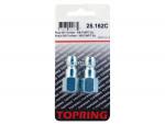 Plug (3/8 truflate) 3/8 (f) npt (manual) 2pcs/c