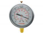 """Liquid gauge 2-1/2"""" – 1/4 npt lm 30""""hg stainless steel/brass"""