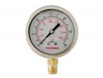 """Liquid gauge 2-1/2"""" – 1/4 npt lm 0-30 stainless steel/brass"""
