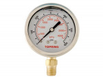"Liquid gauge 2-1/2"" – 1/4 npt lm 0-600 stainless steel/brass"