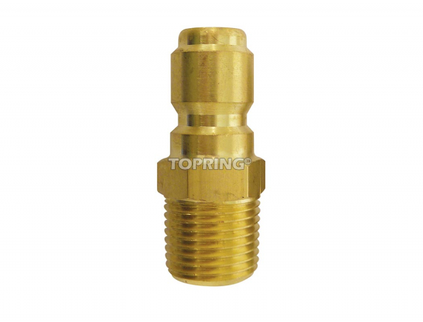 Plug hydraulic (straight through) 1/8 (m) npt brass