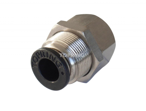 Female bulkhead connector 1/2 x 3/8 (f) npt maxfit